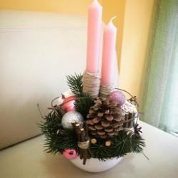 Букет «Рождественская свеча»